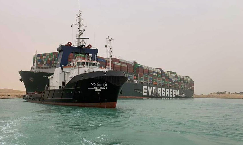 Ever Given still blocking Suez Canal, shipping continues to back up