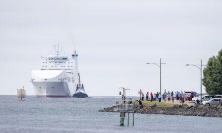 MV Liekut arrives in Devonport on maiden voyage