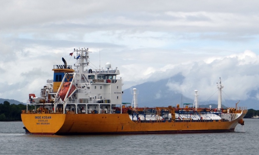 Inge Kosan given permission to anchor off Brisbane