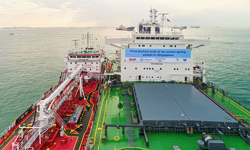 Biofuels bunker trial carried out in Singapore