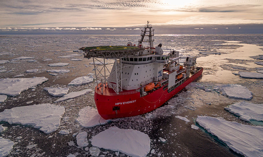 Fire breaks out on MPV Everest after Antarctic resupply