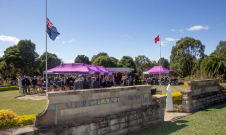 56th annual commemoration at the Merchant Navy Memorial in Sydney