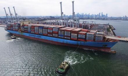 Big ship comes to Melbourne