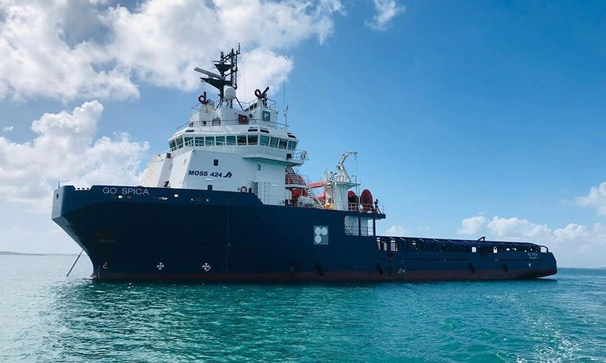 Support vessel heads south to rendezvous with MPV Everest