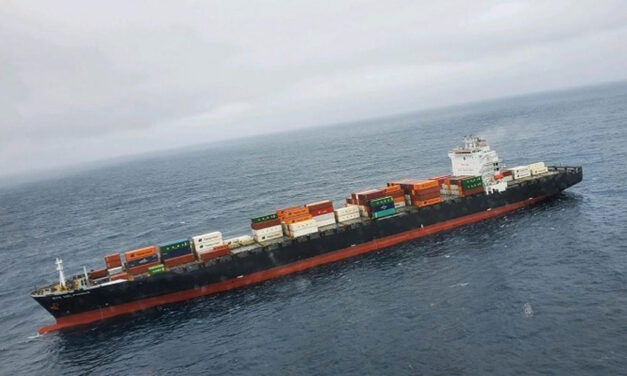 Stricken containership reaches port after engine room fire