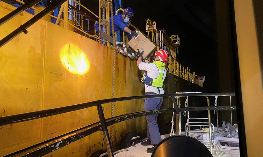 Brisbane mission and pilots team up to help Inge Kosan seafarers
