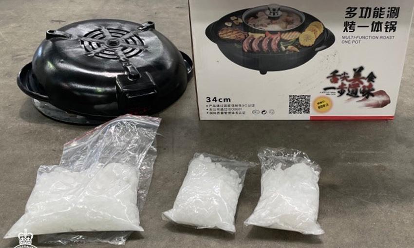 Drugs hidden in sea cargo BBQs intercepted at Port Botany