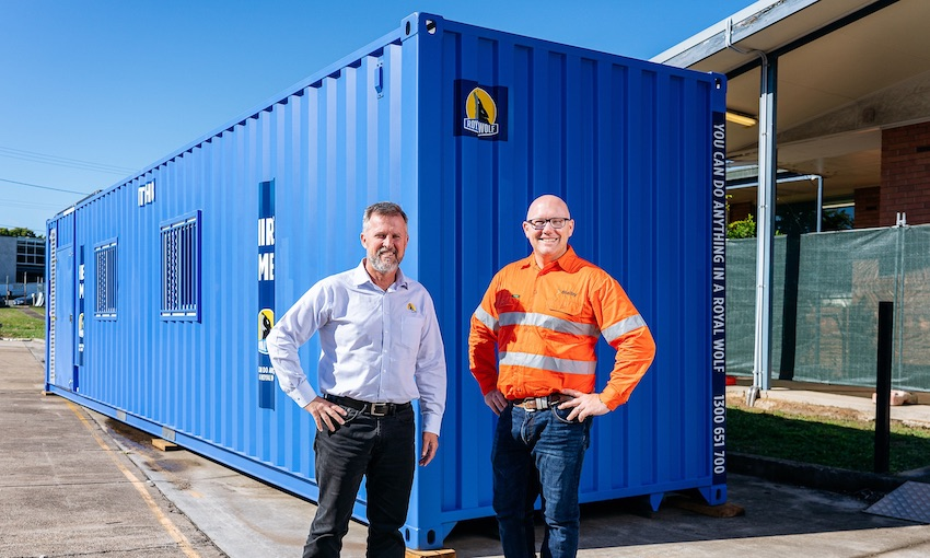 The new shipping container office