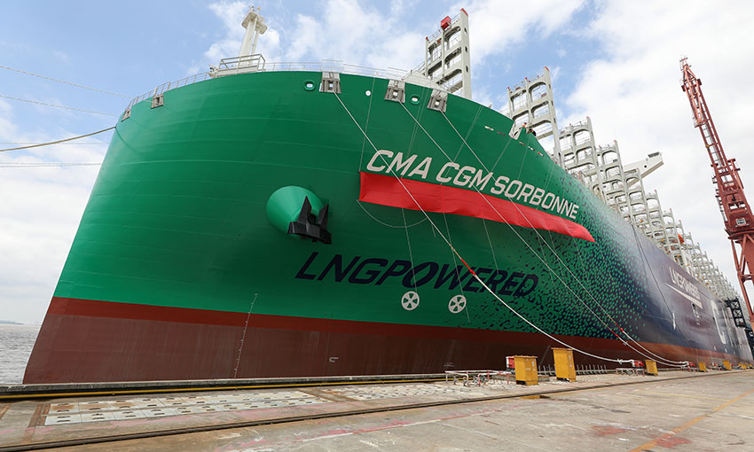 Ninth LNG-powered colossus joins CMA CGM fleet