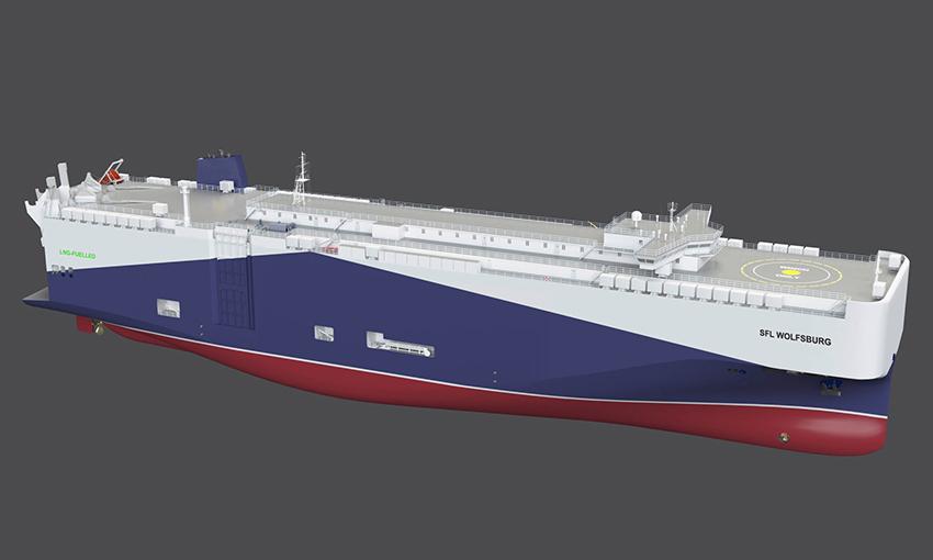 Car company charters additional LNG vessels