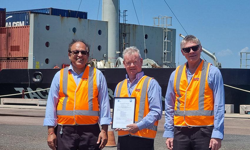 Darwin marine pilots gain international safety certification
