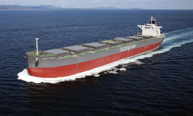 Large log vessel heading to Land of the Long White Cloud after deal inked