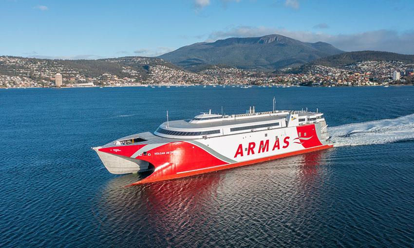 Australian shipbuilder delivers 111-metre catamaran